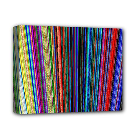 Multi Colored Lines Deluxe Canvas 14  x 11