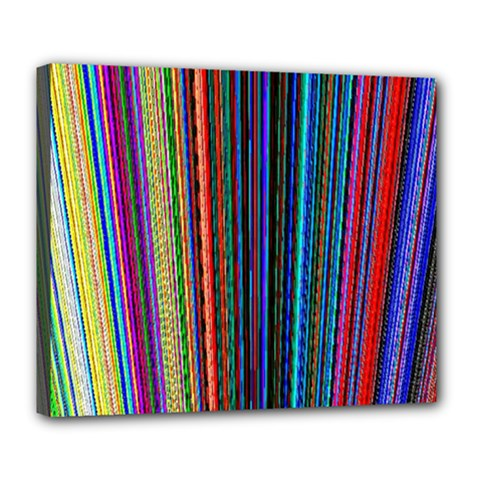 Multi Colored Lines Deluxe Canvas 24  X 20