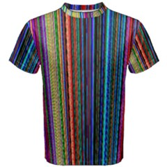 Multi Colored Lines Men s Cotton Tee