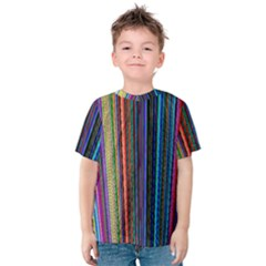 Multi Colored Lines Kids  Cotton Tee