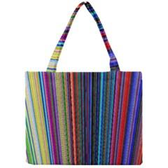 Multi Colored Lines Mini Tote Bag