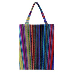 Multi Colored Lines Classic Tote Bag