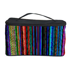 Multi Colored Lines Cosmetic Storage Case