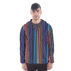 Multi Colored Lines Hooded Wind Breaker (Men)