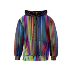 Multi Colored Lines Kids  Zipper Hoodie