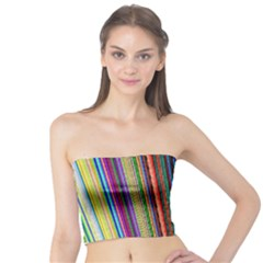 Multi Colored Lines Tube Top
