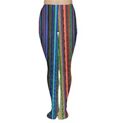 Multi Colored Lines Women s Tights