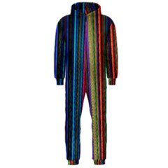 Multi Colored Lines Hooded Jumpsuit (Men)