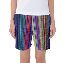 Multi Colored Lines Women s Basketball Shorts