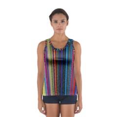 Multi Colored Lines Women s Sport Tank Top