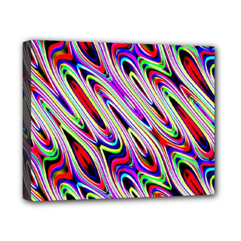 Multi Color Wave Abstract Pattern Canvas 10  x 8