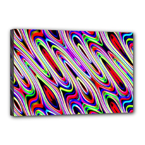 Multi Color Wave Abstract Pattern Canvas 18  x 12