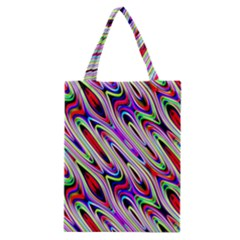 Multi Color Wave Abstract Pattern Classic Tote Bag