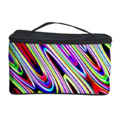 Multi Color Wave Abstract Pattern Cosmetic Storage Case