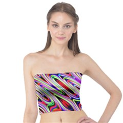 Multi Color Wave Abstract Pattern Tube Top
