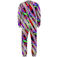 Multi Color Wave Abstract Pattern Onepiece Jumpsuit (men)