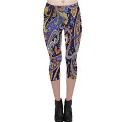 Pattern Color Design Texture Capri Leggings