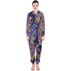 Pattern Color Design Texture Hooded Jumpsuit (Ladies)