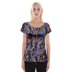 Pattern Color Design Texture Women s Cap Sleeve Top