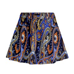 Pattern Color Design Texture Mini Flare Skirt