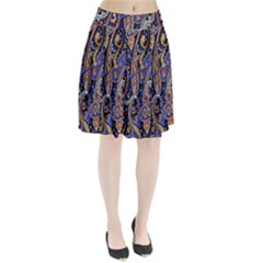 Pattern Color Design Texture Pleated Skirt