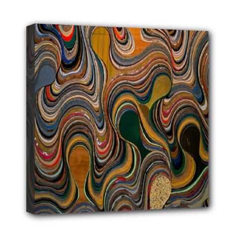 Swirl Colour Design Color Texture Mini Canvas 8  X 8