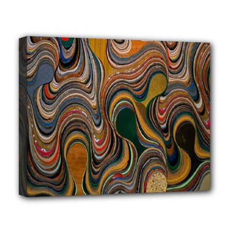 Swirl Colour Design Color Texture Deluxe Canvas 20  X 16