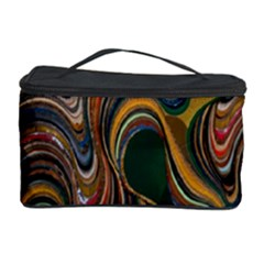 Swirl Colour Design Color Texture Cosmetic Storage Case