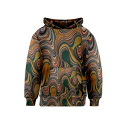 Swirl Colour Design Color Texture Kids  Pullover Hoodie