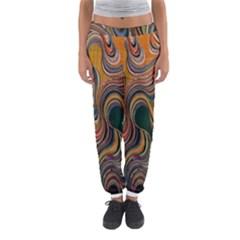 Swirl Colour Design Color Texture Women s Jogger Sweatpants