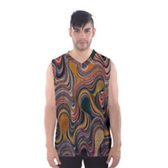Swirl Colour Design Color Texture Men s Basketball Tank Top