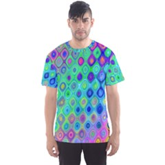 Background Texture Pattern Colorful Men s Sport Mesh Tee