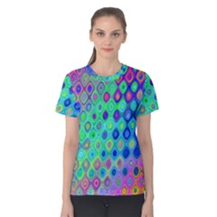 Background Texture Pattern Colorful Women s Cotton Tee