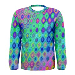 Background Texture Pattern Colorful Men s Long Sleeve Tee
