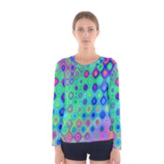 Background Texture Pattern Colorful Women s Long Sleeve Tee