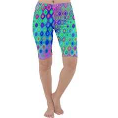 Background Texture Pattern Colorful Cropped Leggings