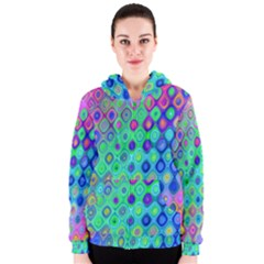 Background Texture Pattern Colorful Women s Zipper Hoodie