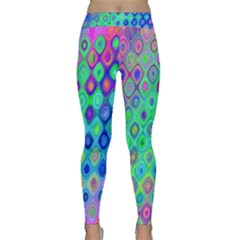 Background Texture Pattern Colorful Classic Yoga Leggings