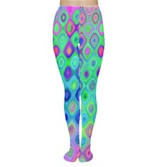 Background Texture Pattern Colorful Women s Tights