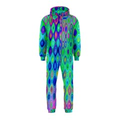 Background Texture Pattern Colorful Hooded Jumpsuit (kids)