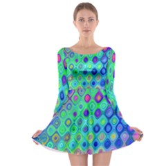 Background Texture Pattern Colorful Long Sleeve Skater Dress