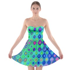 Background Texture Pattern Colorful Strapless Bra Top Dress