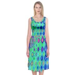 Background Texture Pattern Colorful Midi Sleeveless Dress