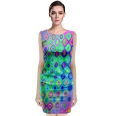 Background Texture Pattern Colorful Classic Sleeveless Midi Dress