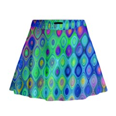 Background Texture Pattern Colorful Mini Flare Skirt