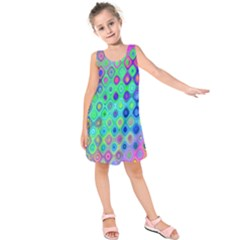 Background Texture Pattern Colorful Kids  Sleeveless Dress