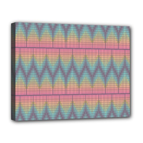 Pattern Background Texture Colorful Canvas 14  x 11