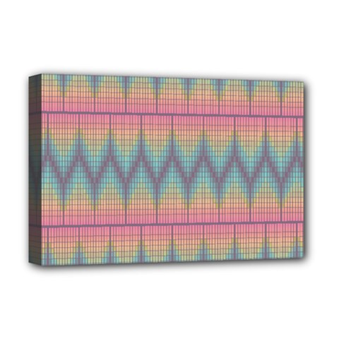 Pattern Background Texture Colorful Deluxe Canvas 18  x 12