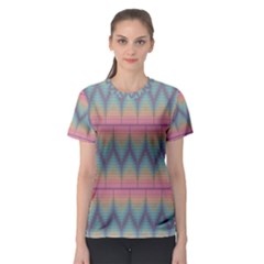 Pattern Background Texture Colorful Women s Sport Mesh Tee