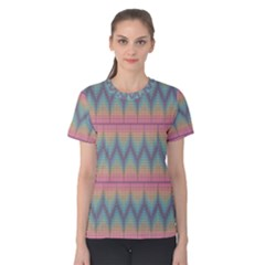 Pattern Background Texture Colorful Women s Cotton Tee